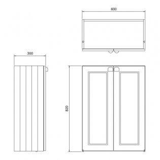 Burlington 60 Fitted 2-Door Base Cabinet Unit, 600mm Wide, Matt White