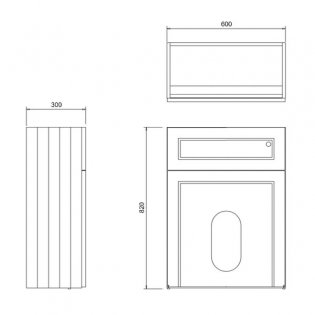 Burlington 60 Fitted Back to Wall WC Unit with Concealed Cistern 600mm Wide, Matt White