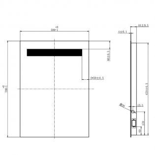 Cali LED Bathroom Mirror 500mm W x 700mm H with De-mister Pad