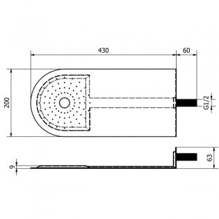 Cali Round Shower Mixer Head - Chrome