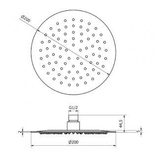 Cali Reno 200mm Round Shower Head - Chrome
