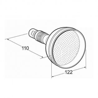 Deva 5 Inch Traditional Shower Head with Swivel Joint Gold