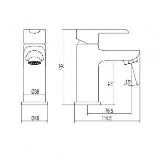 Deva Kea Mini Mono Single Lever Basin Mixer Tap - Chrome