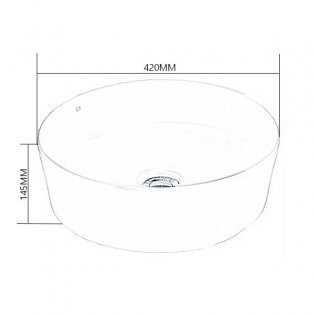 Duchy Lavender Round Vessel Countertop Basin 420mm Wide - 0 Tap Hole