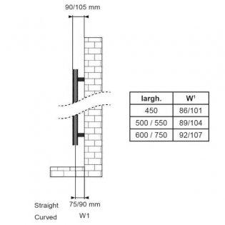 Duchy Straight Towel Rail 1110mm H x 600mm W - Matt Black