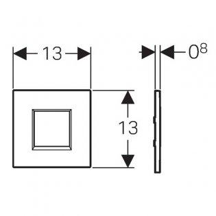 Geberit Sigma30 Urinal Flush Battery - Black/Chrome