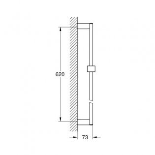 Grohe Euphoria Cube 600mm Shower Rail Only - Chrome
