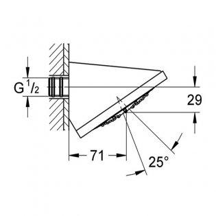 Grohe Rainshower F-Series Fixed Shower Head, 125mm Diameter, Chrome