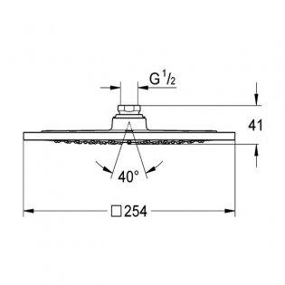 Grohe Rainshower F-Series Fixed Shower Head, 250mm Diameter, Chrome