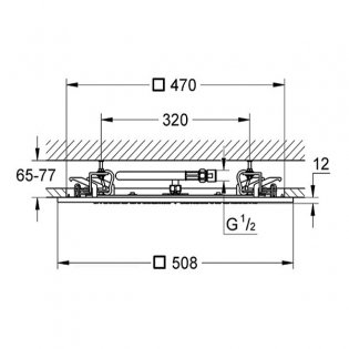 Grohe Rainshower F-Series Fixed Shower Head, 500mm Diameter, Chrome