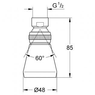 Grohe Relexa Plus 50 Shower Head 1 Spray Pattern - Chrome