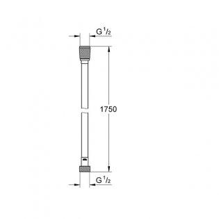Grohe Silverflex Shower Hose, 1750mm Length, Chrome