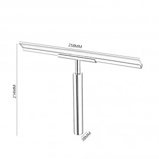 Haceka Selection Glass Wiper, Polished Silver