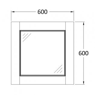 Hudson Reed Bathroom Furniture Mirror 600mm H x 600mm W Pistachio