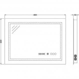 Hudson Reed Prisma Bathroom Mirror 600mm H x 800mm W