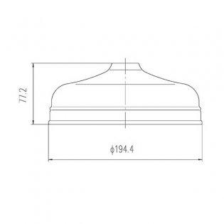 Hudson Reed Tec Apron Fixed Shower Head, 200mm Diameter, Chrome