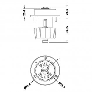 Hudson Reed Traditional Dual Flush Push Button - Chrome (Optional)