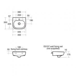 Ideal Standard Jasper Morrison Handrinse Basin 400mm Wide 1 Tap Hole