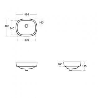 Ideal Standard Jasper Morrison Vessel Basin 500mm Wide 0 Tap Hole
