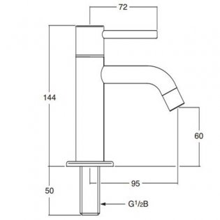 Inta Minimalistic Lever Operated Basin Tap