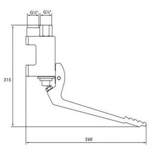Inta Foot Operated Wall Mounted Valve