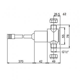 Inta Knee Operated Exposed Valve with 350mm Lever