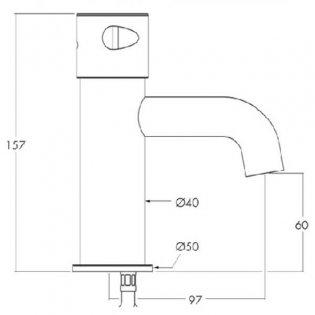 Inta Commercial Mono Basin Mixer Tap Non-Concussive Chrome