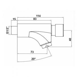 Inta Wall Mounted Non-Concussive Basin Taps, Pair, Chrome