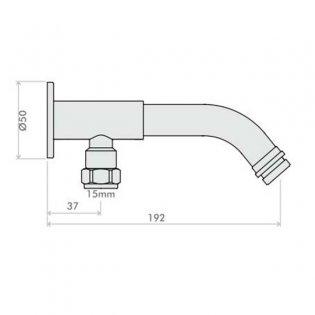 Inta Intacept Bottom Entry Shower Arm, Chrome