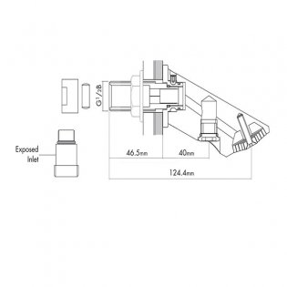 Inta Vandal Resistant Crosswall Prison Shower Head