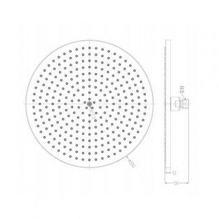 JTP Airforce Fixed Shower Head, 300mm Diameter, Chrome