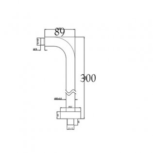 JTP Chill Wall Mounted Shower Arm, 300mm, Chrome