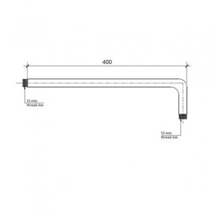 JTP Chill Wall Mounted Shower Arm, 400mm, Chrome