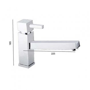 JTP Kubix Mono Kitchen Sink Mixer Tap, Single Handle, Chrome