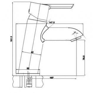 JTP Nuvola Basin Mixer Tap Single Handle - Chrome