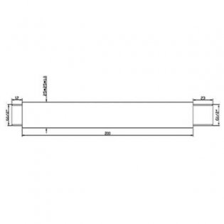 JTP Square Ceiling Mounted Shower Arm, 200mm, Chrome
