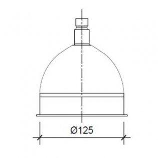 JTP Victorian Fixed Shower Head, 125mm Diameter, Chrome