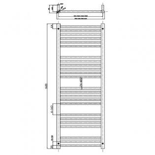 MaxHeat Falmouth Straight Towel Rail, 1600mm High x 600mm Wide, White