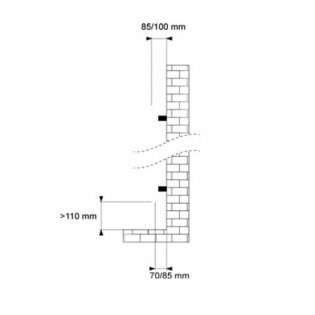 MaxHeat Lazzarini Capri Straight Towel Rail 719mm H x 500mm W - Anthracite