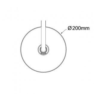 Mira Beat Round Deluge Shower Head 200mm Diameter - Chrome
