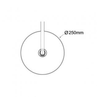 Mira Beat Round Deluge Shower Head 250mm Diameter - Chrome