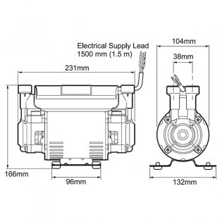 Mira Twin Ended Shower Pump, 2.0 Bar