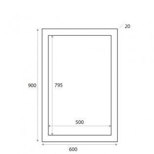 Orbit Wood Frame Bathroom Mirror 900mm H x 600mm W - Avola Grey