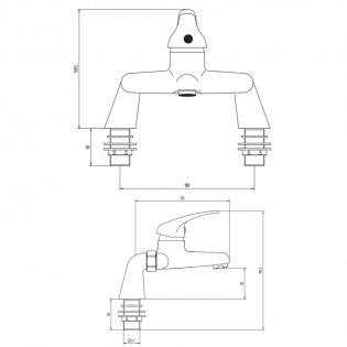 Orbit Entry Bath Filler Tap Deck Mounted - Chrome