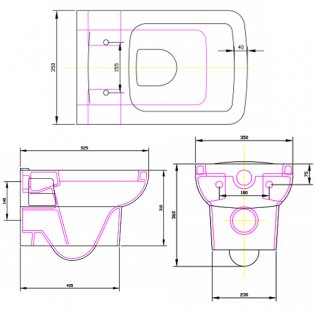 Premier Ambrose Wall Hung Toilet - Excluding Seat