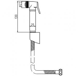 Premier Douche Spray Kit with Handset Holder, Manual Valve, Chrome