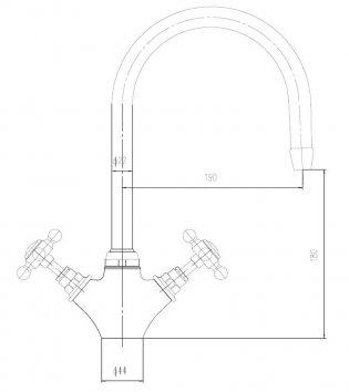 Premier Mono Kitchen Sink Mixer Tap, Dual Handle, Chrome