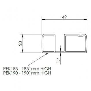 Premier 1850mm Profile Extension Kit - Polished Chrome (Pack of 2)