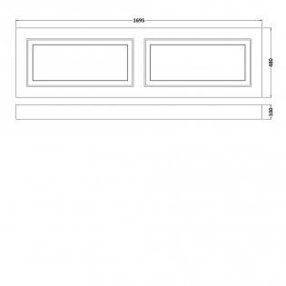 Premier York Bath Front Panel 560mm H x 1700mm W - Porcelain White Ash
