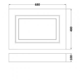 Premier York Bath End Panel 580mm H x 700mm W - Royal Grey